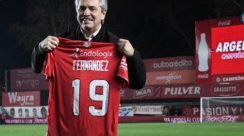 El presidente Alberto Fernández habló también sobre la organización de los torneos de fútbol.