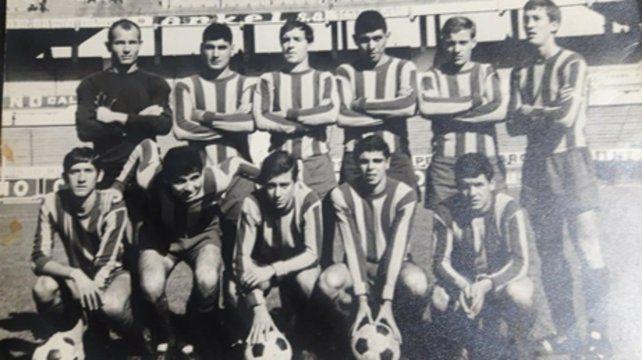 1969. En la reserva canalla (1º abajo, izquierda).