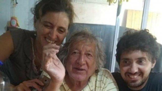Ultimo cumple. El 19 de abril, en medio de la pandemia, Trinche celebró sus 74 años con María Laura y Nicolás.