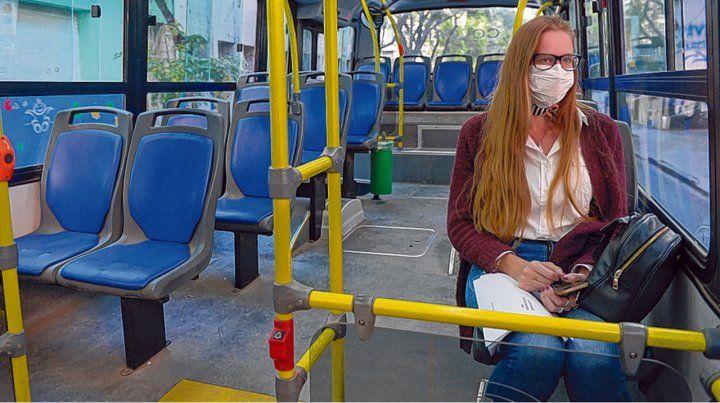 Pocos pasajeros. El reciente estudio de movilidad arrojó un uso del transporte del 78 por ciento el lunes.