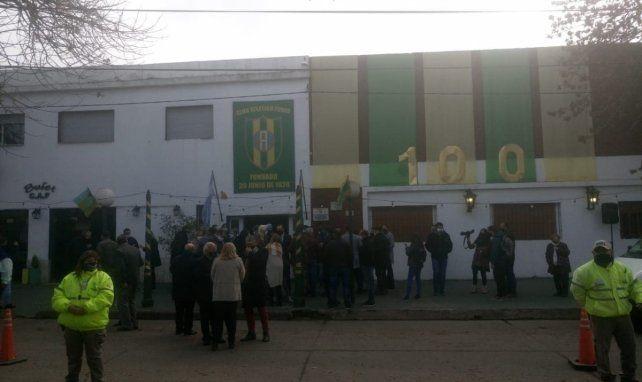 El sábado hubo una austera ceremonia con todos los protocolos en la sede del Club Atlético Funes.