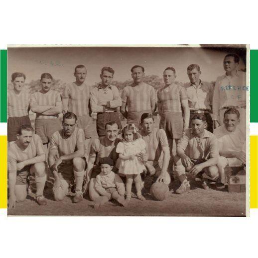 Un equipo de Funes que participó en la Rosarina y en la Carcarañense, de 1942.