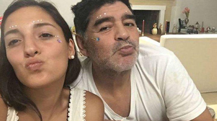 Jana Maradona y su papá Diego