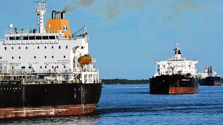 Hidrovía. Las exportaciones de productos primarios subieron.