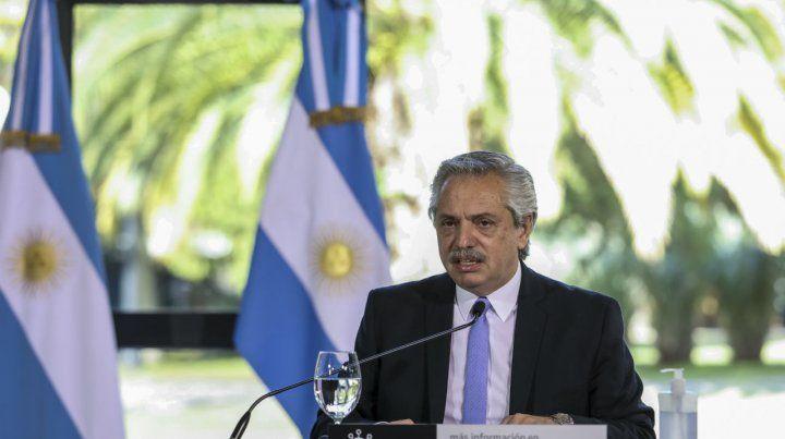 El presidente Fernández extendió la cuarentena y dijo que se va a aislar al AMBA