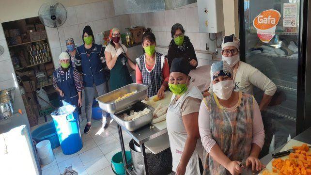 Solidaridad. El comedor del Centro Comunitario Renovación Social de Villa Gobenador Gálvez