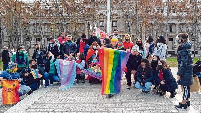 El día del izamiento en la Plaza San Martín.