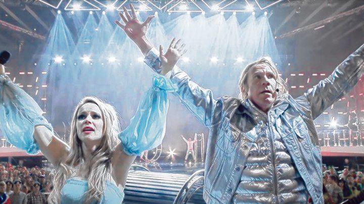 contra viento y marea. Rachel McAdams y Will Ferrell interpretan a un dúo extravagante