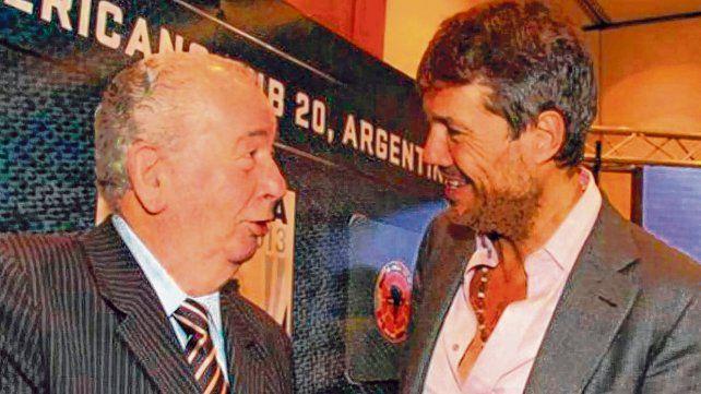Cumbre. La relación entre Julio Grondona y Marcelo Tinelli siempre fue buena.