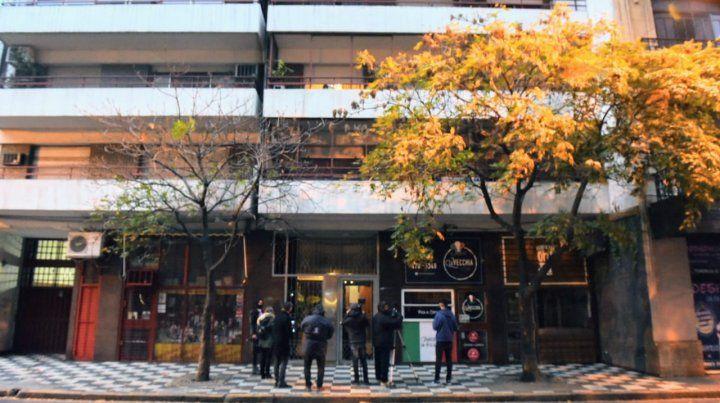 El frente del edificio de San Lorenzo al 1200
