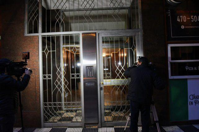 El frente del edificio céntrico donde ocurrió el femicidio.