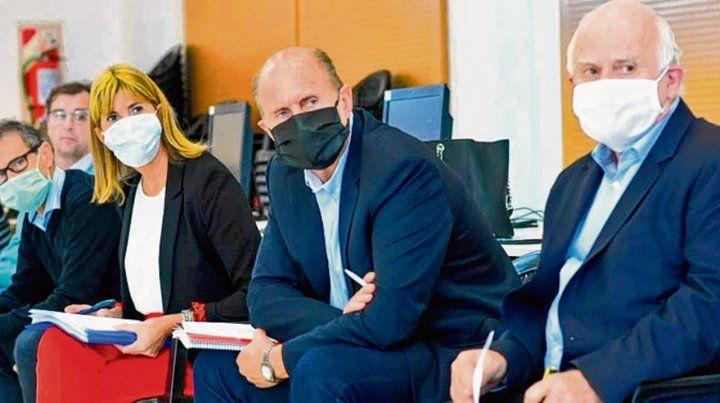 Abril. Perotti y Lifschitz sólo se reunieron brevemente por la crisis sanitaria.