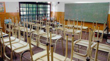 Las aulas están vacías desde el inicio de la pandemia, aunque las clases se dictan de manera virtual.