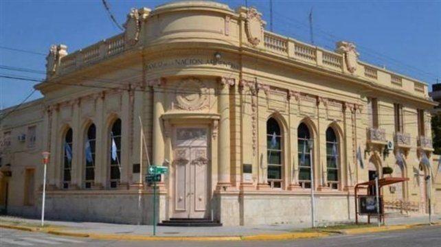 Créditos. La sucursal del Banco Nación en Reconquista.