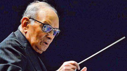 El genial compositor. Ennio Morricone creó bandas sonoras de clásicos de la historia del cine.