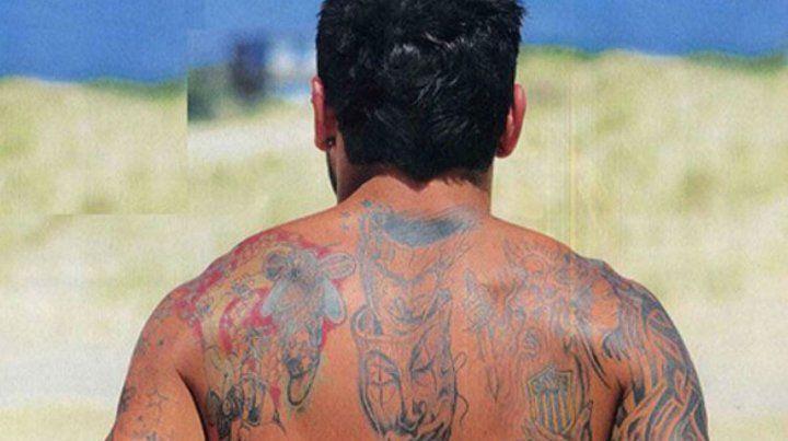 El Pocho Lavezzi tiene una gran cantidad de tatuajes