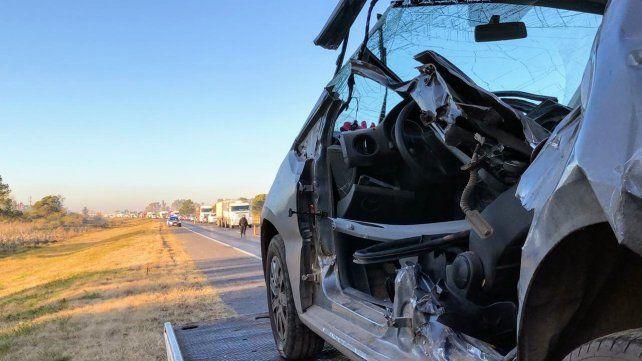 El accidente se produjo en el kilómetro 5 de la autopista Rosario-Santa Fe.