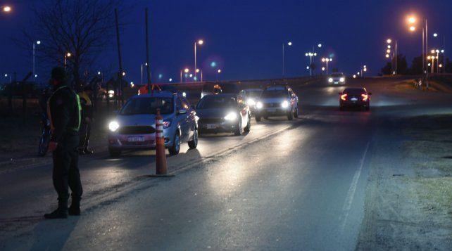 Hubo un control intenso hoy en la autopista a la altura de la localidad de Funes.