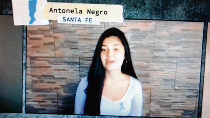 """Satisfacción. Antonela sintió """"orgullo"""" de formar parte del video."""