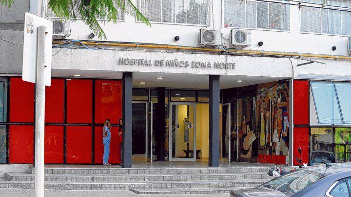 Centro derivador. El Hospital de Niños Zona Norte fue elegido para derivar los casos compatibles con Covid-19. Allí se encuentra el pequeño.