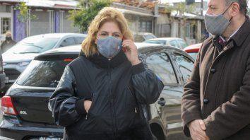 La ministra de Salud Sonia Martorano supervisó los operativos de control de Covid-19 en barrio Las Flores.