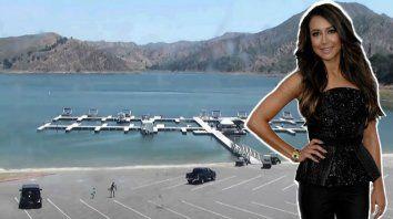 Maya Rivera es buscada intensamente. En la captura de pantalla del video se ve a la actriz con su hijo alllegar al lago.