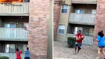 El hombre, que supo entrenarse en el Cuerpo de Marines, salvó al bebé. Lamentablemente la madre no pudo hacerlo.
