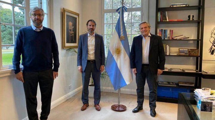 Reunión. El presidente con el gerente de Pfizer Argentina