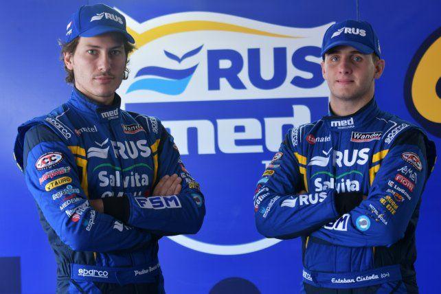 El rosarino Pedro Boero y el salteño por adopción, nacido también en Rosario, Esteban Cístola. Seguirán siendo los pilotos del Rus Med en el TC Pista.