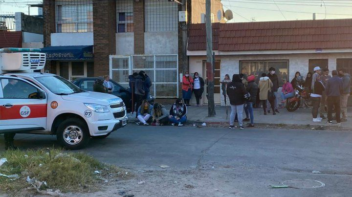 El barrio donde asesinaron al pastor Trasante estaba conmocionado esta tarde.