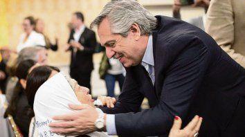 Hebe y Alberto Fernández, en un encuentro en la Casa Rosada.