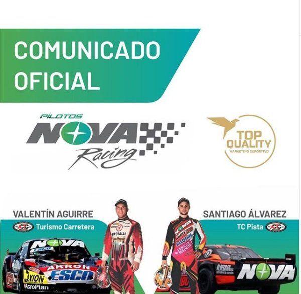 Vuelve el Nova Racing al TC. El equipo con base en Cañada de Gómez trabajará con el JP Carrera.