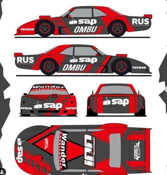 La maqueta de Ian Reutemann, con el número 100 para el TC Mouras.