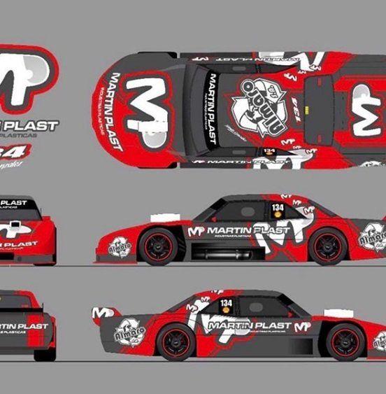 Con detalles propios, la Dodge de Tomy González para el TC Pista Mouras.