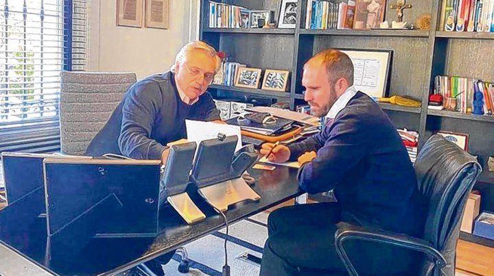 Tensión. Fernández y Guzmán reiteraron que la oferta presentada a los bonistas es la última.