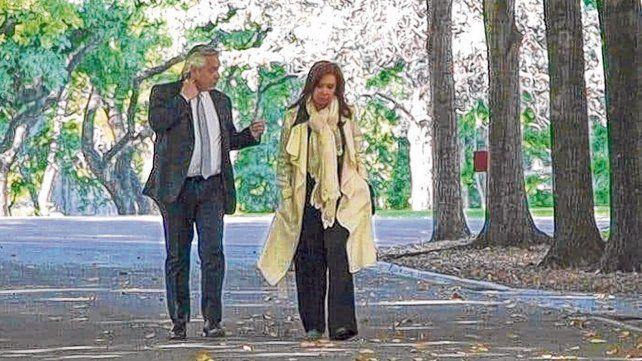 Confidencias. Fernández escuchó hace poco el reclamo de CFK por la marcha de las causas judiciales.