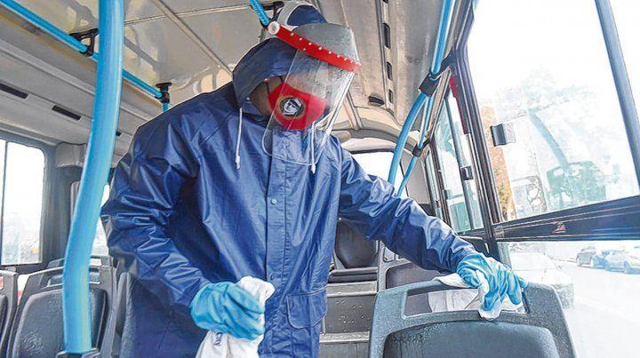 vuelta a rodar. Hoy las unidades se higienizarán para recibir nuevamente pasajeros.