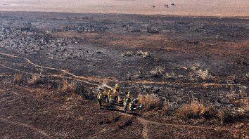 Imagen aérea de una de las zonas más afectadas por el fuego.