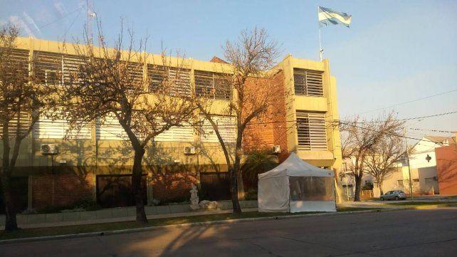 La sede de Vicentin en Avellaneda.