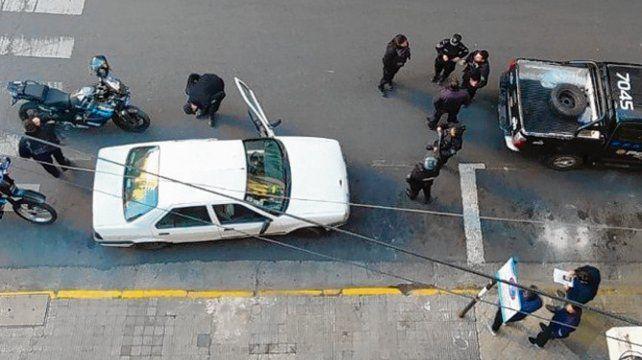 apresado. Carlos M. fue detenido en Rioja y Dorrego tras un choque.