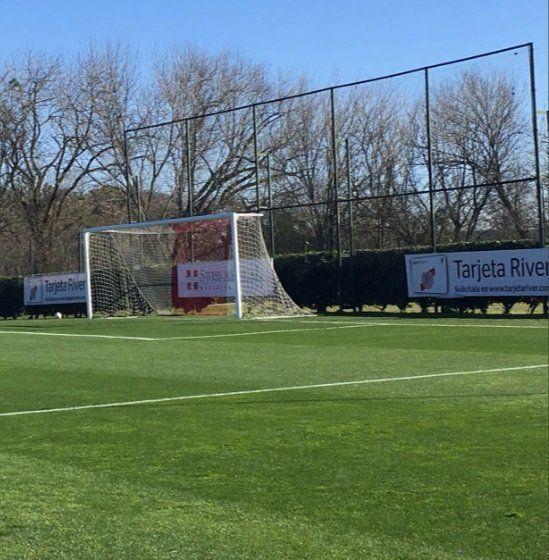 El predio de River Plate en Ezeiza. Desde hoy lo acondicionarán para la vuelta.