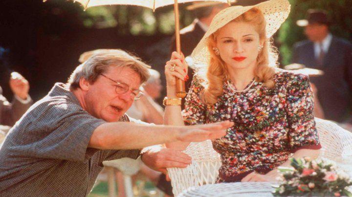 En buenos Aires. Parker con Madonna durante el rodaje de Evita.
