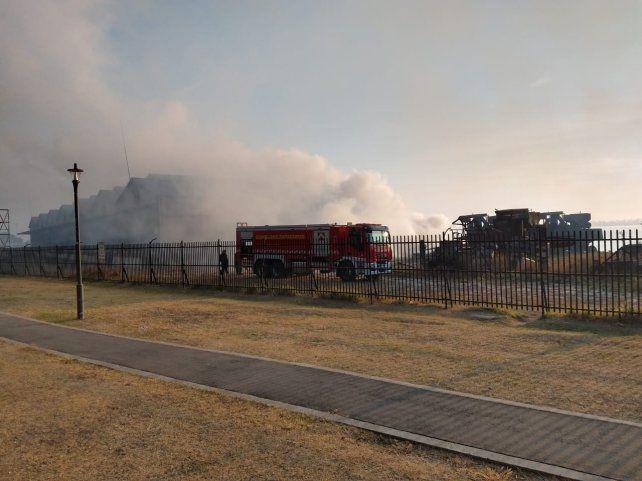 El fuego se produjo a la altura de la exzona franca de Bolvia.