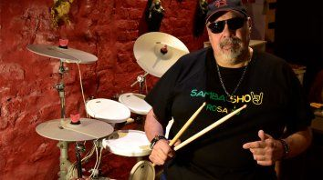 Omar Pogonza marcó un camino no sólo como músico, sino también como profesor de batería.