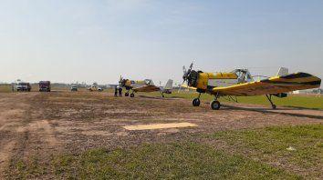 Gran ayuda del Aero Club y el Parque Industrial de San Lorenzo para combatir el fuego