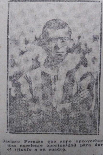 Jacinto Perazzo, protagonista en el incidente que determinó la suspensión y luego en el gol del triunfo para el título.