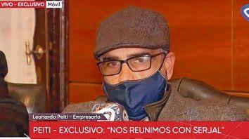 Peiti reiteró ayer que tuvo una reunión en Buenos Aires con el ex fiscal regional Patricio Serjal.