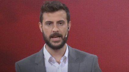 El periodista de TN se vio envuelto en una polémica por un gesto que hizo en televisión.