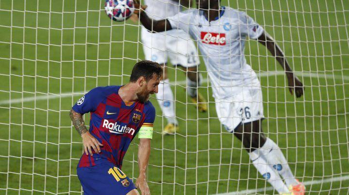 Con una joyita de Messi, Barcelona venció al Napoli y se metió en cuartos de la Champions