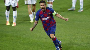 Lionel Messi grita su gol con toda la descarga de una previa difícil para él y Barcelona.